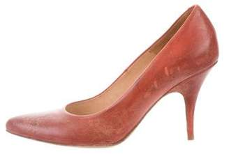 Maison Margiela Distressed Pointed-Toe Pumps w/ Tags