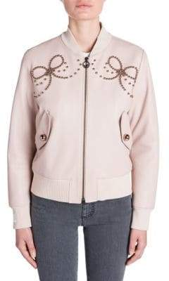 Fendi Embellished Bomber Jacket