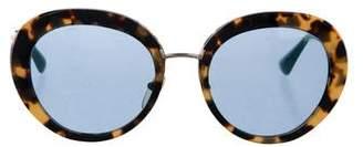 Prada Tinted Tortoiseshell Sunglasses