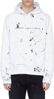 Vyner Articles Paint splatter logo graphic print hoodie