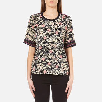 Maison Scotch Women's Silky Feel Top with Placement Prints