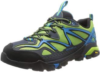 Merrell Men's Capra Sport Hiking Shoes, Light Grey/Red