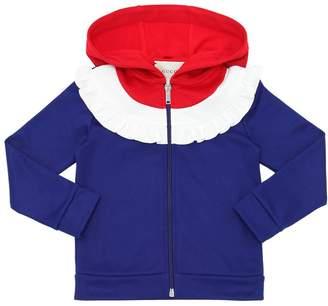 Gucci Hooded Zip-Up Cotton Blend Sweatshirt