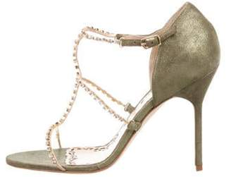 Marchesa Deena Embellished Sandals w/ Tags Green Deena Embellished Sandals w/ Tags