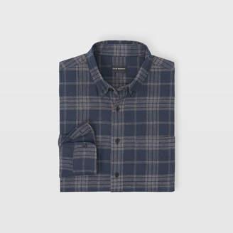 Club Monaco Slim Check Flannel Shirt