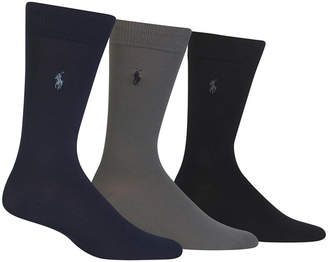Polo Ralph Lauren Men 3 Pack Super-Soft Dress Socks