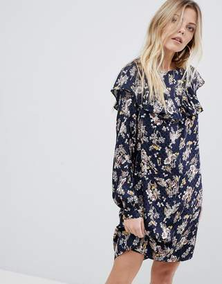 Vila Floral Ruffle Dress