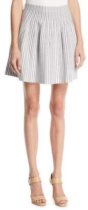 Club Monaco Himanah Geo-Print Pleated Short Skirt