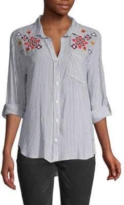 Jak & Rae Elisa Striped Button-Down Shirt