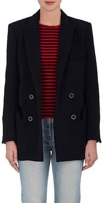 BLAZÉ MILANO Women's Everyday Wool Melton Double-Breasted Blazer