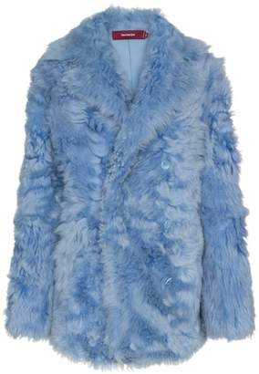 Sies Marjan lapel-collar shearling coat
