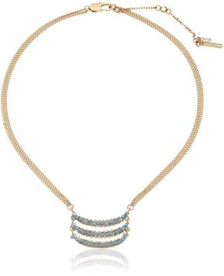 "Kenneth Cole New York Mood Woven Faceted Bead Triple Bar Pendant Necklace, 17"" + 3"" Extender"