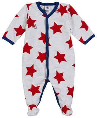 Petit Bateau Star-Print Footie Pajamas, Size 1-9 Months