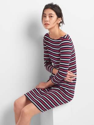 Gap Modern Stripe Boatneck T-Shirt Dress