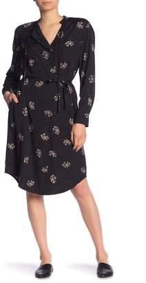 Vince Floral Print Waist Tie Dress