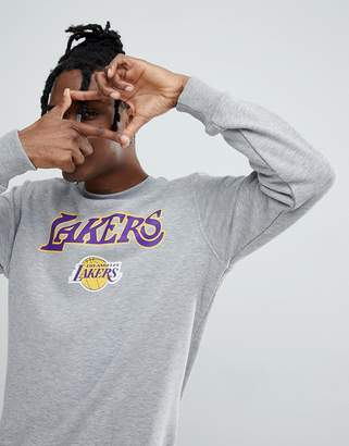 New Era NBA Los Angeles Lakers Sweatshirt In Gray