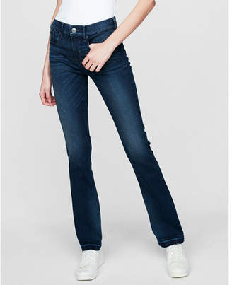 Express mid rise barely boot denim perfect stretch+ jeans