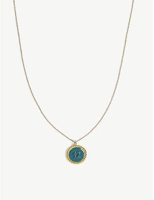 Maje Number 12 medallion necklace