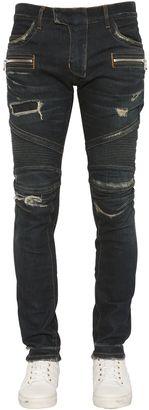 16.5cm Biker Stretch Denim Jeans $1,700 thestylecure.com