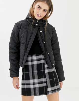 Daisy Street cropped padded jacket with hood