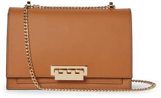 Zac Posen Camel Earthette Large Chain Shoulder Bag
