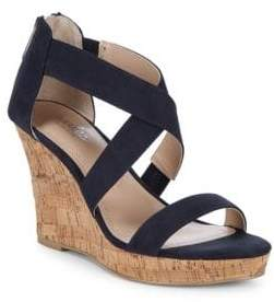 Charles by Charles David Crisscross Leather Wedge Sandals