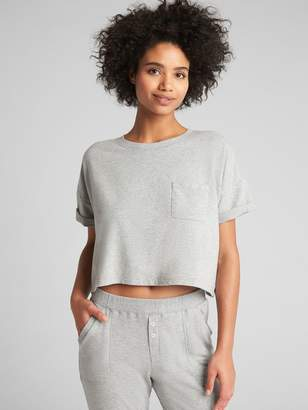 Gap Crop Pocket T-Shirt in French Terry