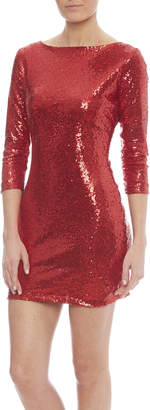 Glamorous Red Sequin Dress