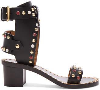 Isabel Marant Leather Jaeryn Sandals $910 thestylecure.com