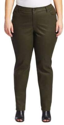 Lafayette 148 New York Lafayette 148 New York, Plus Size Thompson Waxed Denim Jeans