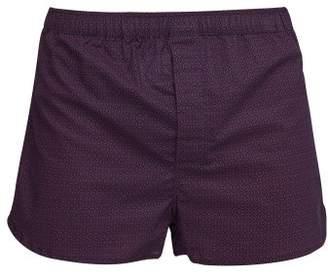 Derek Rose Nelson Geometric Print Cotton Boxer Shorts - Mens - Navy