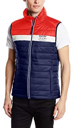 Gaastra Men's Sleeveless Gilet Multicoloured Mehrfarbig (NAVY F40) Medium