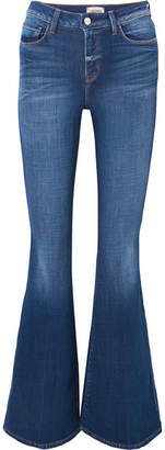 L'Agence Solana High-rise Flared Jeans - Dark denim