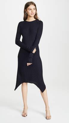 Helmut Lang Fine Wool Rib Dress