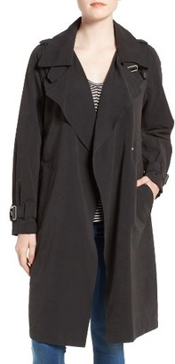 Women's French Connection Drape Front Trench Coat $148 thestylecure.com