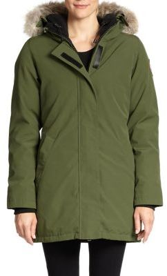 Canada Goose Victoria Fur-Trimmed Down Parka $850 thestylecure.com