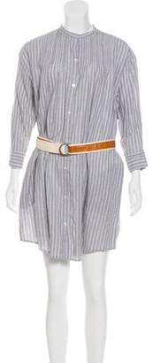 Elizabeth and James Striped Oversize Shirtdress w/ Tags