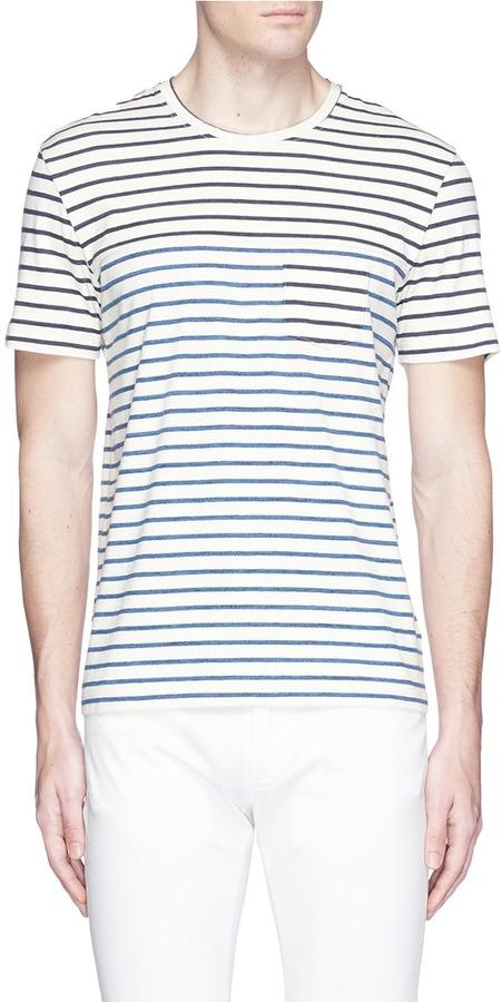 AlteaAltea Stripe chest pocket T-shirt