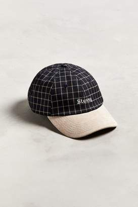 Stussy Checked Suede Baseball Cap
