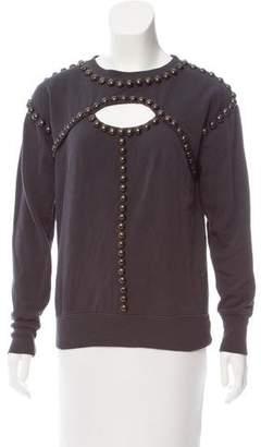 Isabel Marant Embellished Cutout Sweatshirt