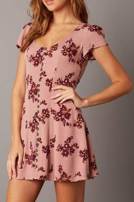 Cotton Candy Short-Sleeve Floral Dress