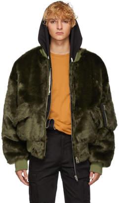 Landlord Green Faux-Fur Bomber Jacket