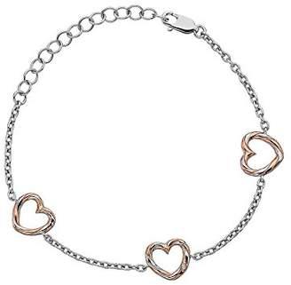 Hot Diamonds Women 925 Sterling Silver Diamond Chain Bracelet of Length 21cm DL571