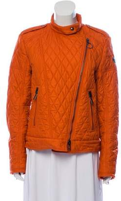 Belstaff Quilted Zip-Up Jacket