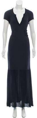 Tomas Maier Cap-Sleeve Maxi Dress