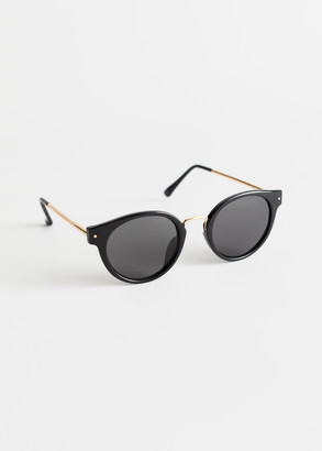 And other stories Rounded Gold Bridge Sunglasses