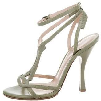 Bottega Veneta Leather Ankle-Strap Sandals