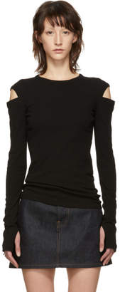 Helmut Lang Black Slash Long Sleeve T-Shirt