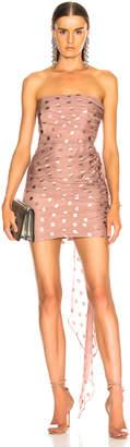 Michelle Mason x FWRD Ruched Strapless Dress