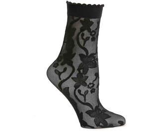 Aldo Embroidered Floral Ankle Socks - Women's